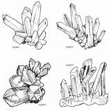 Crystal Cluster Clipart Drawing Lineart Illustrations Gemstone Digital Magical Outline Crystals Drawings Sketch Tattoo Handrawn Gem Etsy Getdrawings Wiccan Tattoos sketch template