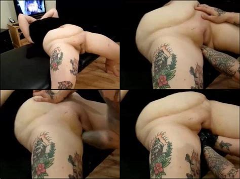 Double Fisting Hot Tattooed Bbw Amateur Scene Rare
