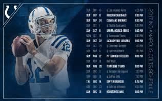 2017 NFL Colts Schedule