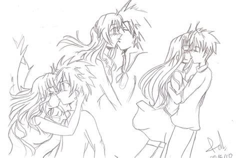 anime couple draw anime couples kissing drawing