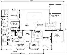 house plans with large bedrooms country style house plans 7028 square foot home 1 story 7 bedroom and 6 bath 4 garage
