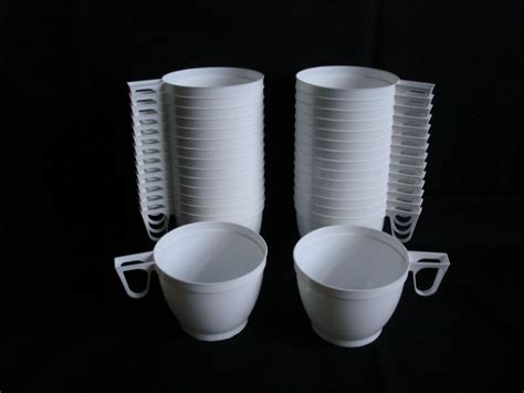 30 Plastic Disposable White Coffee / Tea Mugs Cups Party Glass Coffee Tables With Oak Legs Cake Espresso Caffeine In Vs Cacao Table Crate And Barrel Grey Ikea Easy 9 X 13 One Pot Chef