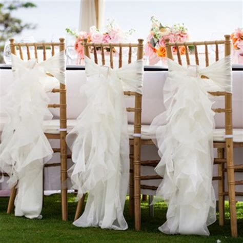 new white wedding fancy chair back covers 30pieces