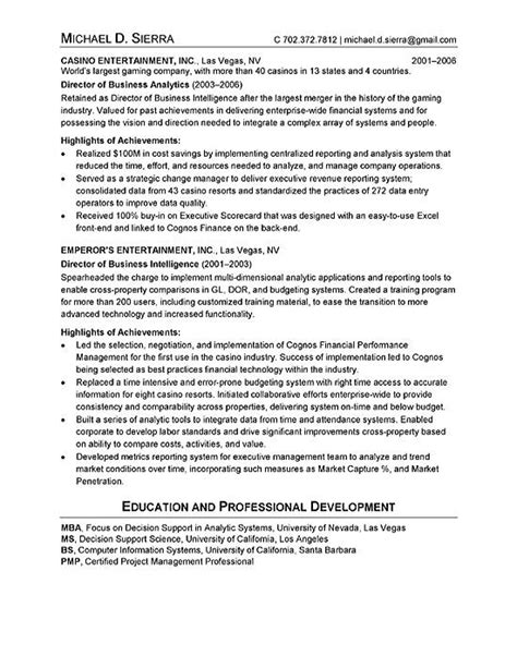 chief information officer cio resume exle