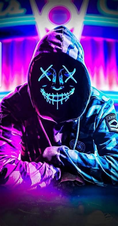 Neon Mask Zedge Wallpapers Hacker Iphone Smoke