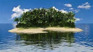blender tropical island palm tree