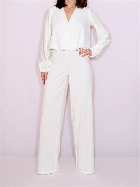 sleeve white jumpsuit white jumpsuit sleeve jumpsuit wide leg jumpsuit