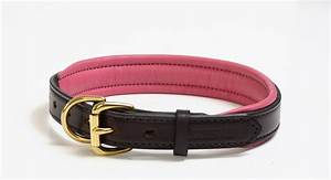 perri39s havana padded leather dog collar pink large With perri dog collar
