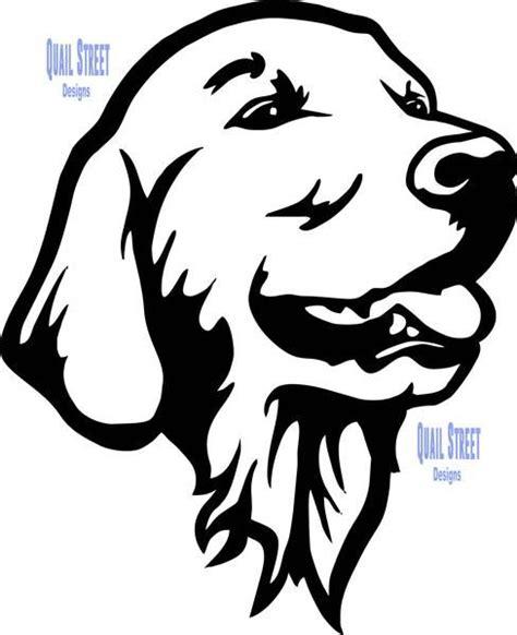 golden retriever vinyl decal animal stencil dog stencil