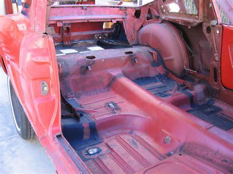 mustang fastback rear seat floor brackets
