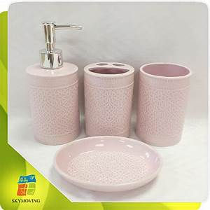 pink bathroom sets shower curtains accessories buildmuscle With cerise bathroom accessories