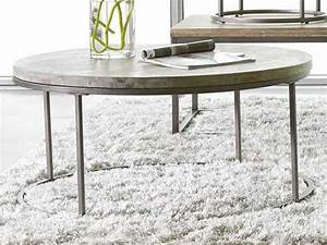 Casana alana weathered acacia 383939 round coffee table for Round weathered coffee table