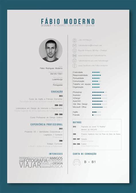 Cv Design by Curriculum Vitae By F 225 Bio Moderno Via Behance Print