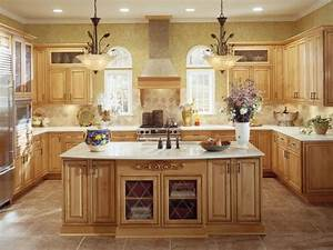 brown tile floor light wood cabinets kitchen 2201