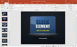 Animated sleek design powerpoint template for Sleek powerpoint templates