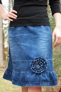 Denim skirt makeover - Craftaholics Anonymousu00ae