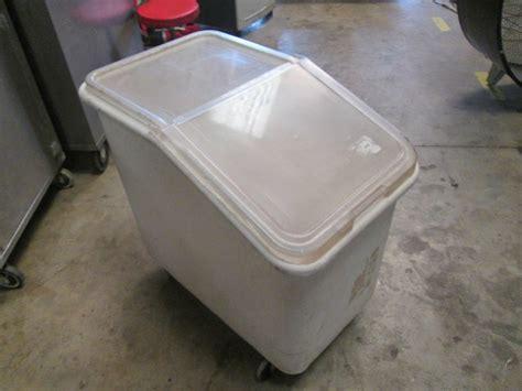 Rubbermaid White Rolling Ingredient Storage Bin Saver 2 3