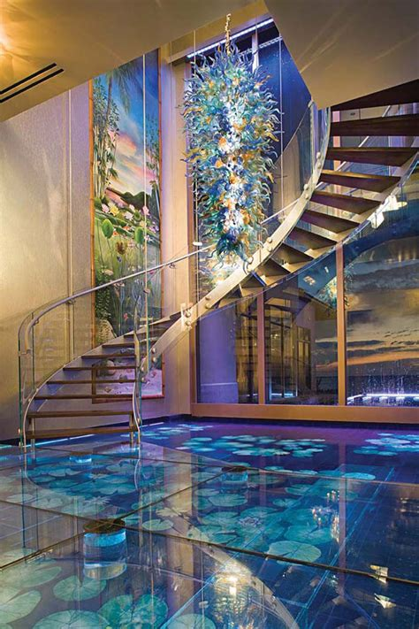 exotic mansion  florida  soothing water theme