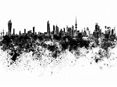 Skyline Background Kuwait Watercolor Pablo Card Romero