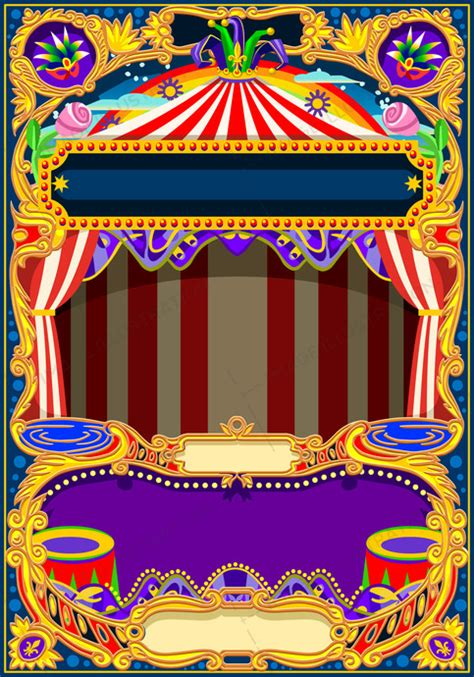 circus wallpaper vector frame image illustration