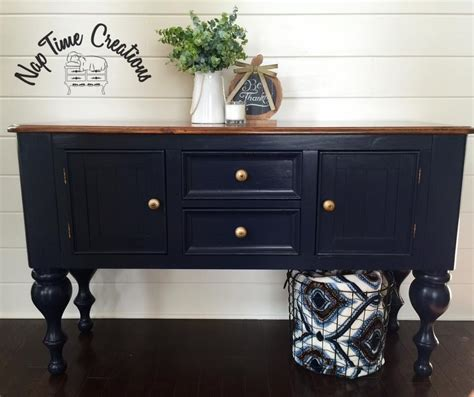 Buffet in Coastal Blue Milk Paint   General Finishes