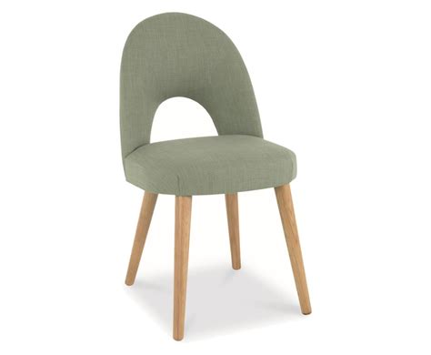 orbit aqua green upholstered dining chair