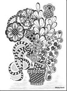 Flower Zentangle Doodle