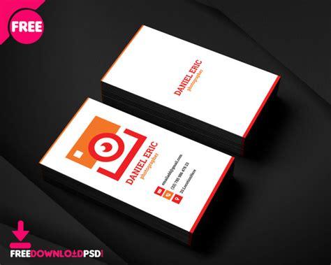 photographer business card freedownloadpsdcom