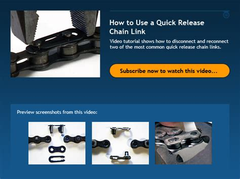 How To Use A Quick Release Chain Link