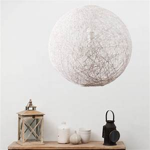 suspension luminaire boule blanche With luminaire maison du monde