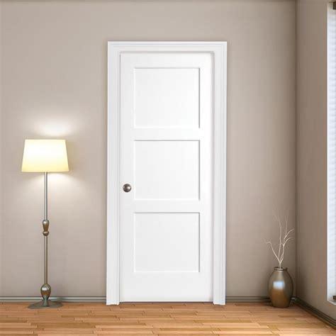 interior  min fire rated shaker flat  panel primed door lux doors