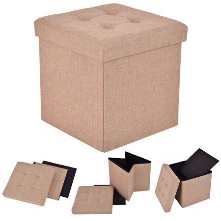 Ottoman Storage Cubes by Costway Folding Storage Cube Ottoman Seat Stool Box