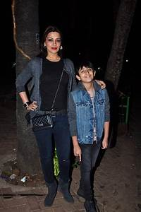 Sonali Bendre and her son coordinated their outfits in the ...
