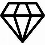 Diamond Diamonds Shape Icon Crystal Diamante Transparent