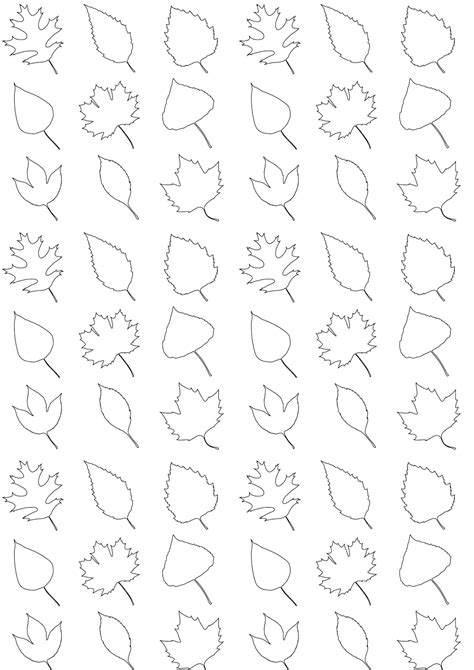 printable leaves coloring pattern paper