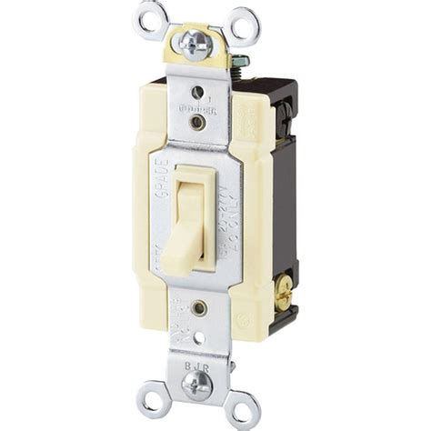 Eaton Standard Grade Amp Way Toggle Switch With Side