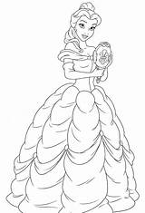 Belle Coloring Princess Disney Walt Characters Fanpop Colouring Mylifeuntethered sketch template