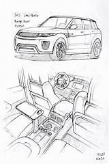 Rover Range Land Drawing Evoque Drawings Coloring Prisma Sketch Dessin Colorir Voiture Desenho Desenhos Carros Pencil Autos Elegant Kim Zeichnen sketch template