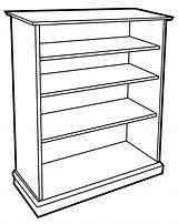 Bookcase Wooden Bw Household Furniture Wpclipart Formats sketch template