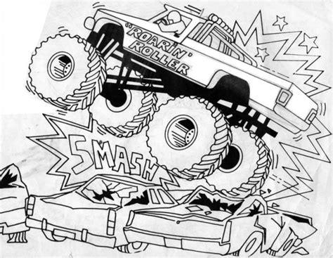 coloriage le spectacle de monster truck dessin gratuit  imprimer