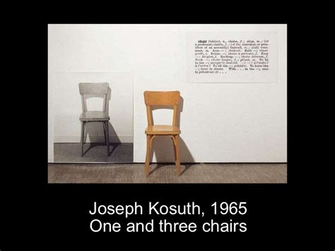 Joseph Kosuth One And Three Chairs by Cours Photo Contemporaine 2011