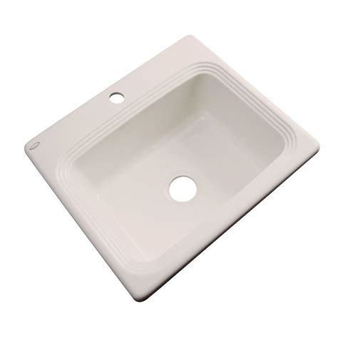thermocast cambridge kitchen sinks thermocast rochester drop in acrylic 25 in 1 single