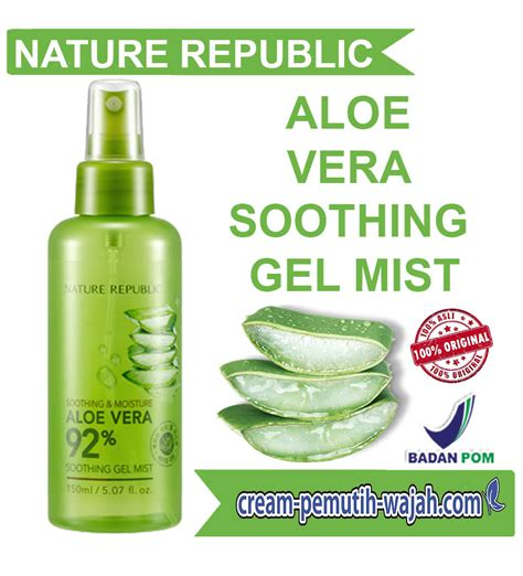 Harga Nature Republic Soothing Gel Mist review nature republic aloe vera harga kegunaan cara