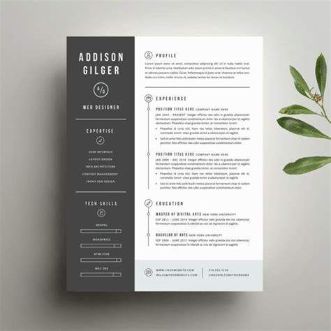 resume template  cover letter template  word