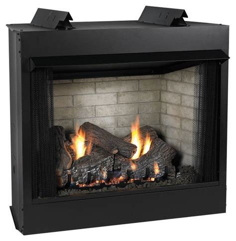 Fireplace Natural Gas by Premium 36 Quot Vent Free See Thru Ip Fireplace Natural Gas