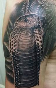 Shoulder Realistic Snake Tattoo by Inky Joe