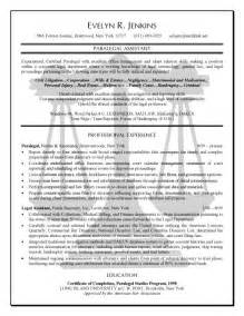 resume objective for paralegal student paralegal resume exle