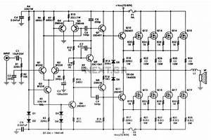 400 W Mosfet Audio Amplifier Circuit Using Irfp448 Diagram
