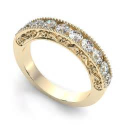 gold engagement rings vintage vintage yellow gold wedding ring with cut diamonds ipunya