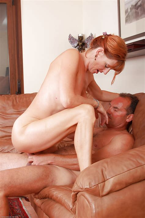 Older Redhead Liddy Receiving Oral Sex From Husband On